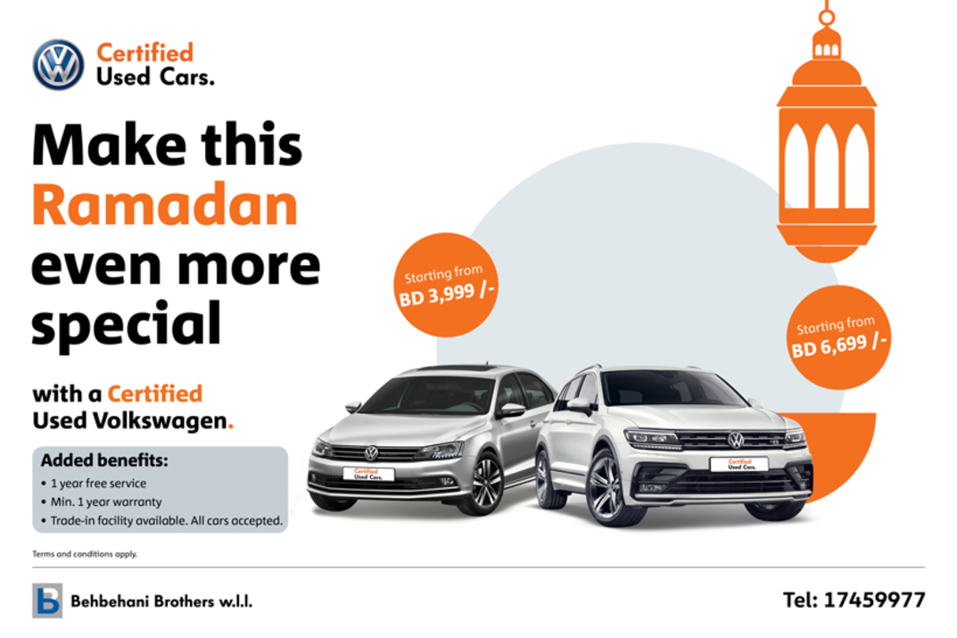 This holy month, own a Volkswagen certified used car.