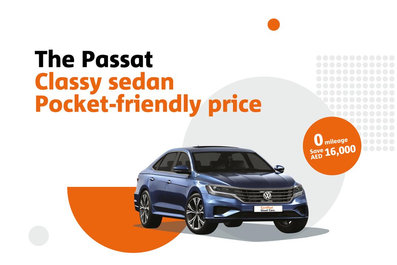 The Passat. Classy sedan with a pocket-friendly price.